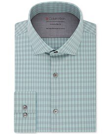 Calvin Klein Men's Extra Slim-Fit Plaid Dress Shirt