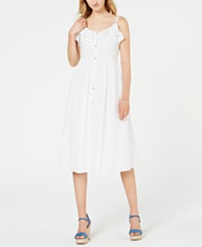 MICHAEL Michael Kors Cotton Ruffled Eyelet Shirtdress
