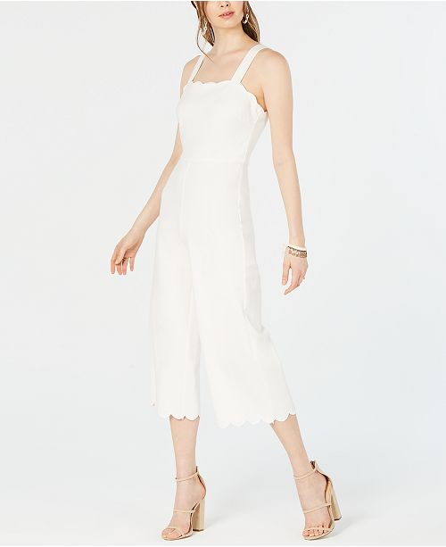 Lucy Paris Scalloped Cropped Jumpsuit