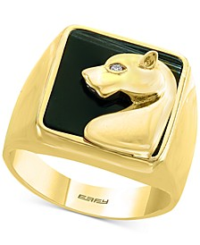 EFFY® Onyx & Diamond Accent Panther Ring in 14k Gold
