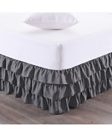 Sweet Home Collection Waterfall 3-Layer Ruffled Queen Bedskirt