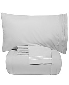 Sweet Home Collection Queen 5-Pc Comforter and Sheet Set