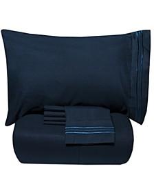 Full 5-Pc Comforter and Sheet Set