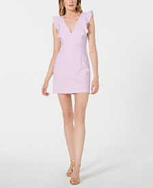 French Connection Whisper Sleeveless Ruffled Sheath Dress
