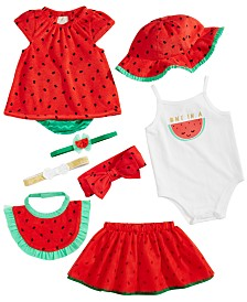 First Impressions Baby Girls Watermelon Mix & Match Separates, Created for Macy's