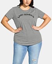 d77d8ab2f3f511 City Chic Trendy Plus Size Paris T-Shirt