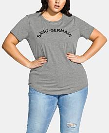 City Chic Trendy Plus Size Paris T-Shirt