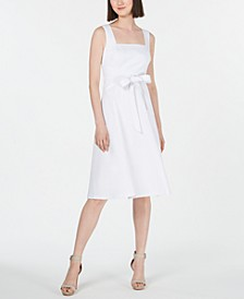 Square-Neck Midi Dress