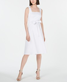 Calvin Klein Square-Neck Midi Dress