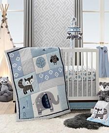 Stay Wild Woodland Animals Nursery 4-Piece Baby Crib Bedding Set