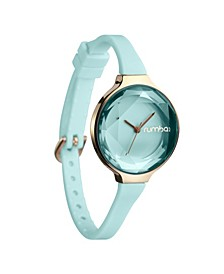 Orchard Gem Mint Silicone Band Watch