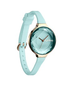 RumbaTime Orchard Gem Mint Silicone Band Watch