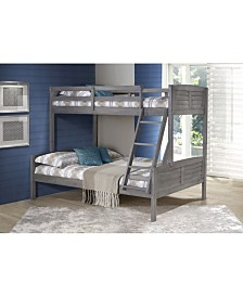 Twin Over Full Louver Bunk Bed