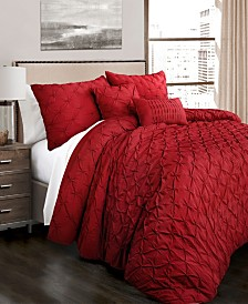 Ravello Pintuck 5Pc King Comforter Set