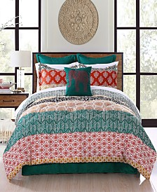 Bohemian Stripe 7-Pc. King Comforter Set