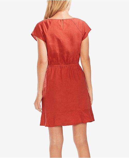 a en Robes Vince Canyon lin Femme volants Robe et robes Camuto Sunset WHDeE9IY2b