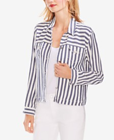 Vince Camuto Striped Shirt Jacket