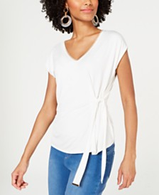 Thali Sodi Embellished Tie-Waist Top, Created for Macy's