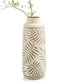 Home Essentials La Dolce Vita Large Ceramic Leaf Vase