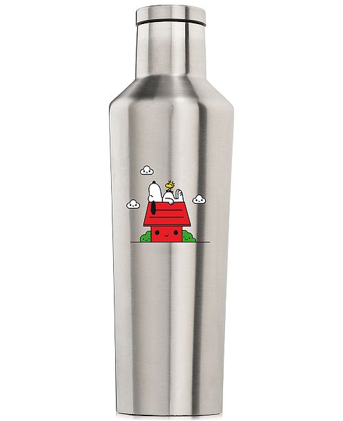 Corkcicle Peanuts Collection Snoopy 16-Oz. Brushed Stainless Steel Canteen, Created for Macy's