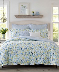 Laura Ashley Nora Sun Blue Comforter Set, King