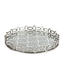 Rosa Mirrored Accent Tray, Medium