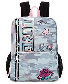 Bioworld Little & Big Girls Camo-Print LOVE Backpack