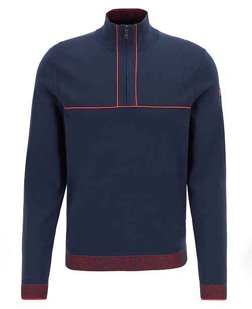 aed31cddda62 Hugo Boss BOSS Men s Zipen Zip-Neck Knitted Sweater   Reviews ...