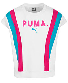 Puma Big Girls Colorblocked French Terry Top