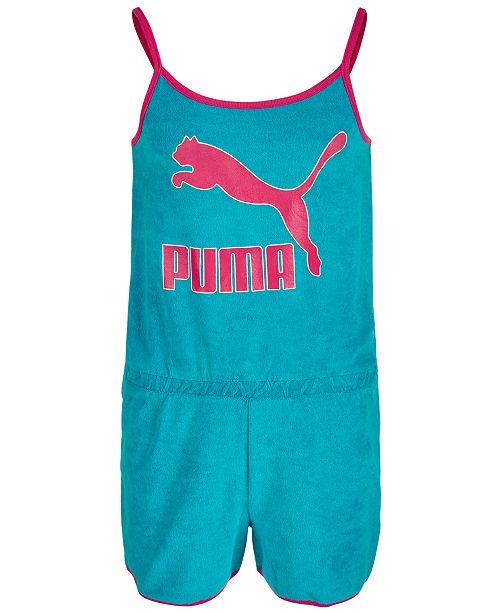 Puma Big Girls Logo Terrycloth Romper