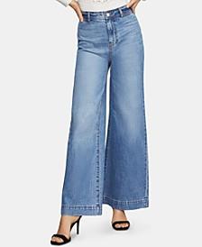 Cotton Wide-Leg Jeans