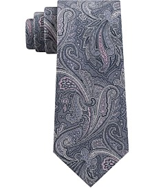 Michael Kors Men's Line Art Paisley Silk Tie