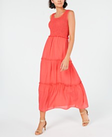 NY Collection Petite Smocked Maxi Dress