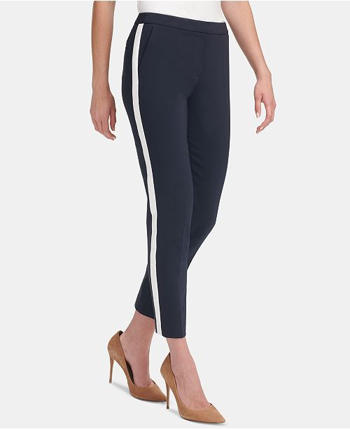 Tommy Hilfiger Tuxedo-Stripe Varsity Pants