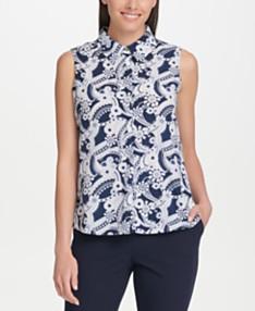f4328d442a Tommy Hilfiger Sleeveless Shirts: Shop Sleeveless Shirts - Macy's