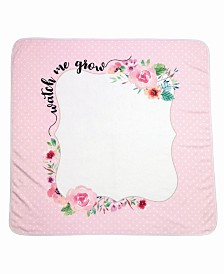 "Lillian Rose ""Watch Me Grow"" Baby Blanket with Milestone Cards"