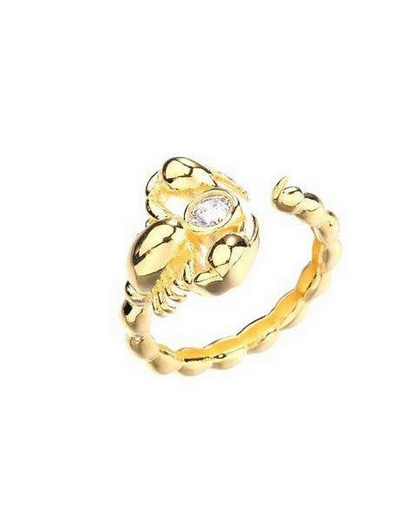 nOir Gold Plated Scorpion Ring