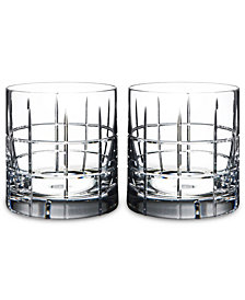 Orrefors Set of 2 Street Double Old-Fashioned Glasses