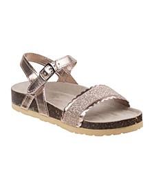 Every Step Glitter Cork Lining Sandals