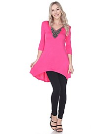 Women's Luna Embellished Tunic top