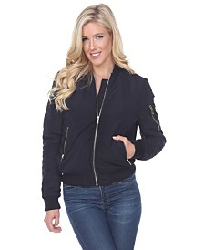 White Mark Women's Bomber Jacket
