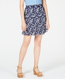 Maison Jules Ruffled Pull-On Skirt, Created for Macy's