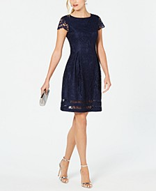 Petite Lace A-Line Dress