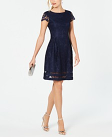 Jessica Howard Petite Lace A-Line Dress
