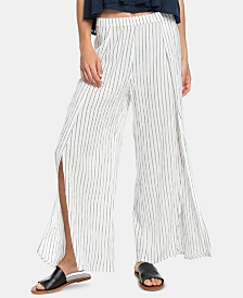 Roxy Juniors' Adventure Striped Split-Leg Pants