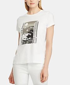 Lauren Ralph Lauren Petite Graphic T-Shirt