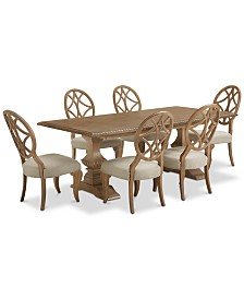Jasper County Stately Brown Rectangular Dining Furniture, 7-Pc. Set (Table & 6 Side Chairs)
