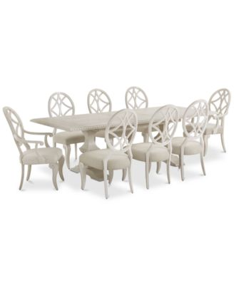 Jasper County Dogwood Rectangular Dining Furniture, 9-Pc. Set (Table, 6 Side Chairs & 2 Arm Chairs)