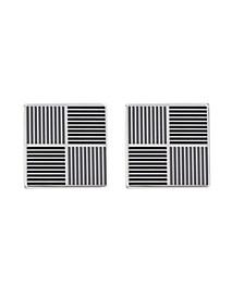Men's Black Stainless Steel Cufflinks