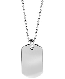 Boyz Will Be Boyz Children's Stainless Steel Dog Tag Necklace